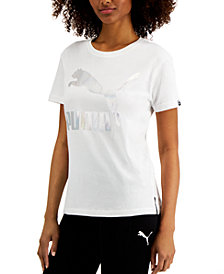Puma Women's Classics Iridescent-Logo T-Shirt