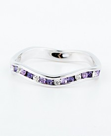 Swarovski Crystal Stackable ring in Sterling Silver