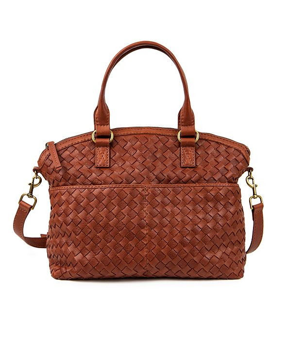 American Leather Co. Carrie Dome Woven Satchel