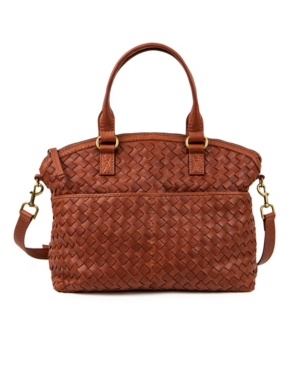 Carrie Dome Woven Satchel