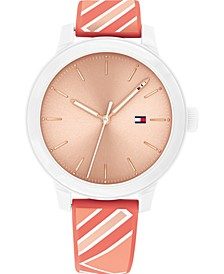 Women's Coral Silicone Strap Watch 38mm, Created for Macy's