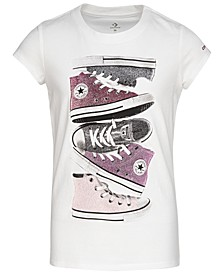 Big Girls Sneakers Graphic Cotton T-Shirt