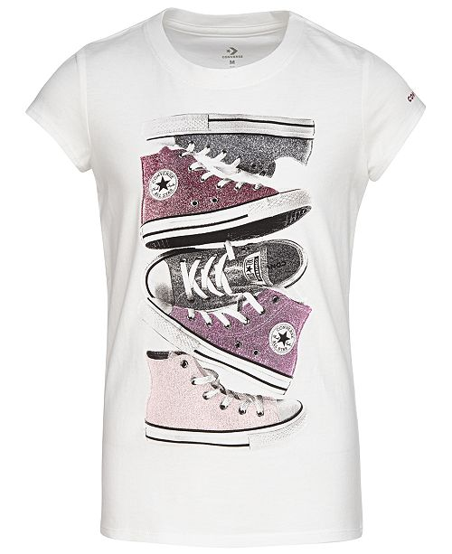 Converse Big Girls Sneakers Graphic Cotton T-Shirt