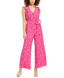 Printed Belted Jumpsuit, Created for Macy's