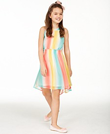 Big Girls Striped High-Low Dress, Created For Macy's