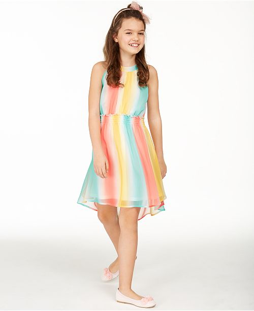 Epic Threads Big Girls Striped High-Low Dress, Created for Macy's