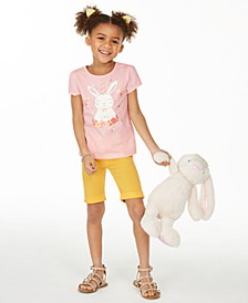 Little Girls Be Hoppy T-Shirt & Bermuda Shorts Separates, Created for Macy's