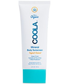 Mineral Body Organic Sunscreen Lotion SPF 30 - Tropical Coconut, 3.4-oz.
