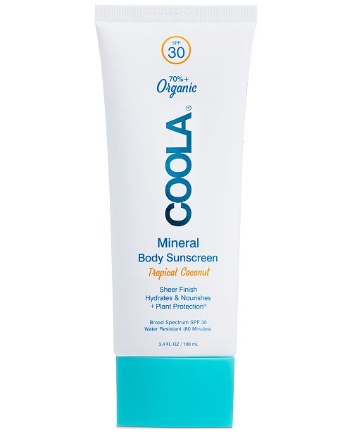 COOLA Mineral Body Organic Sunscreen Lotion SPF 30 - Tropical Coconut, 3.4-oz.