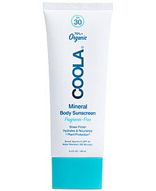 Mineral Body Organic Sunscreen Lotion SPF 30 - Fragrance Free, 3.4-oz.