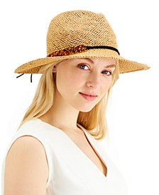 INC Tortoiseshell-Links Open-Weave Panama Hat, Created for Macy's