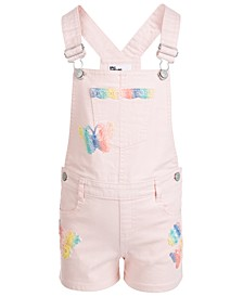 Toddler Girls Rainbow Trim Shortall
