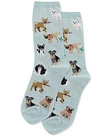 Women's Dogs Of The World Fashion Crew Socks
