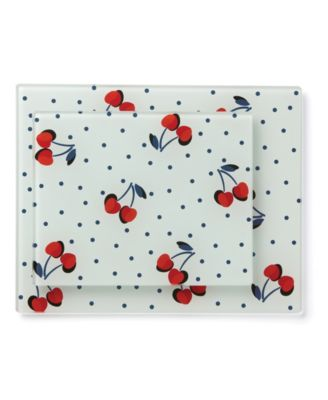 new york Vintage Cherry Dot Prep Boards, S/2