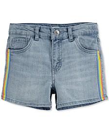 Big Girls Stretch Denim Shorty Shorts