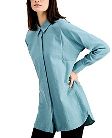 Pleated-Back Oversized Shirt, Created for Macy's