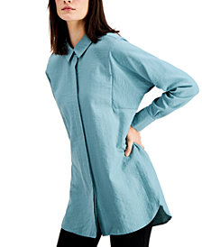 Alfani Pleated-Back Oversized Shirt, Created for Macy's