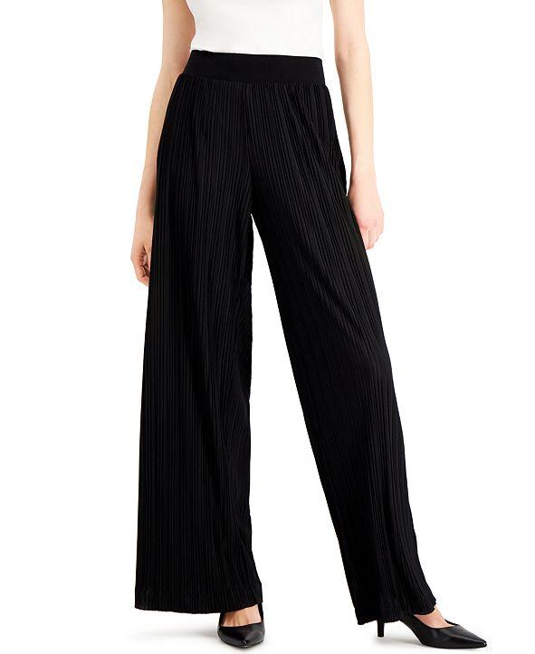 Alfani Plissé Pleated Pants, Created for Macy's