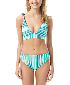Reversible Convertible Bikini Top & High-Leg Reversible Bikini Bottoms