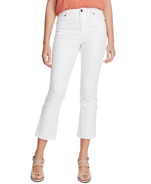 1.STATE Raw-Hem Mid-Rise Crop Skinny Jeans