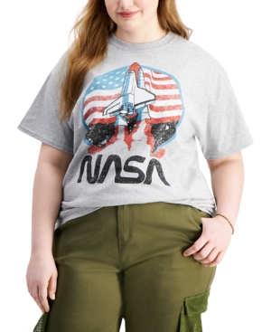 Trendy Plus Size Nasa Launch T-Shirt