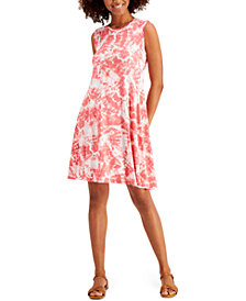 Style & Co Tie-Dyed Swing Tank Dress, Created for Macy's