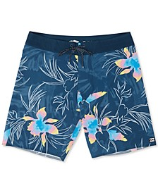 Little Boys Sunday Floral-Print Swim Trunks