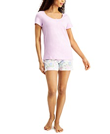 Henley & Shorts Cotton Pajama Set, Created for Macy's