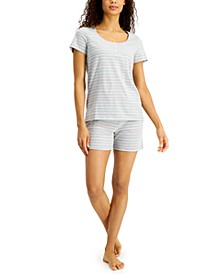 Striped Shorts Pajama Set, Created for Macy's