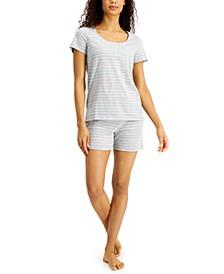 Striped Shorts Pajama Set, Created for Macy's