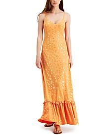 Metallic Paisley Maxi Dress, Regular & Petite Sizes