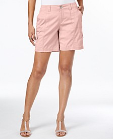 Petite Comfort-Waist Cargo Shorts, Created for Macy's