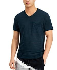 INC Men's Broken-Stripe V-Neck T-Shirt, Created for Macy's