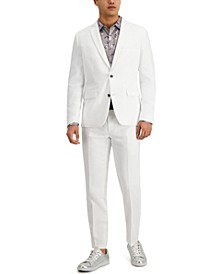 INC Men's Slim-Fit Stretch White Solid Suit Separates, Created for Macy's