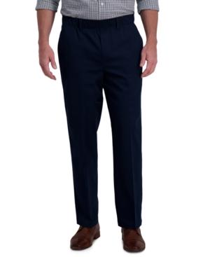 Men's Premium Classic-Fit Wrinkle-Free Stretch Elastic Waistband Dress Pants