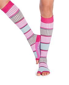 Women's Open Toe Grip Sock for Pilates Barre Yoga Knee High