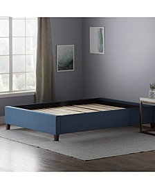Upholstered Platform Bed with Slats, Twin