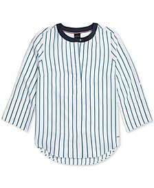 Women's Keiko Striped Top with Magnetic Closures