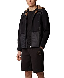 BOSS Men's Sybrid Hybrid Zip-Through Jacket