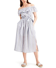 Ruffled Off-The-Shoulder Dress, Regular & Petite Sizes