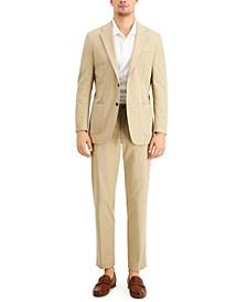 THTECH Men's Modern Fit Stretch Khaki Suit Separates