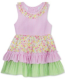 Little Girls Tiered Ruffles Seersucker Dress