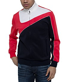Men's Curved Colorblocked Track Jacket