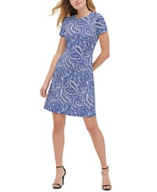 Atlas Shadow Paisley-Print Shift Dress
