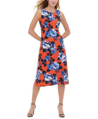 tommy hilfiger orange dress
