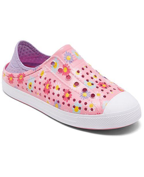 Skechers Little Girls Cali Gear Guzman Steps Hello Daisy Water Sneakers from Finish Line