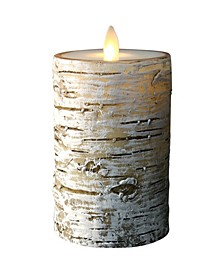 """6"""" Birch Candle with Moving Flame Technology"""