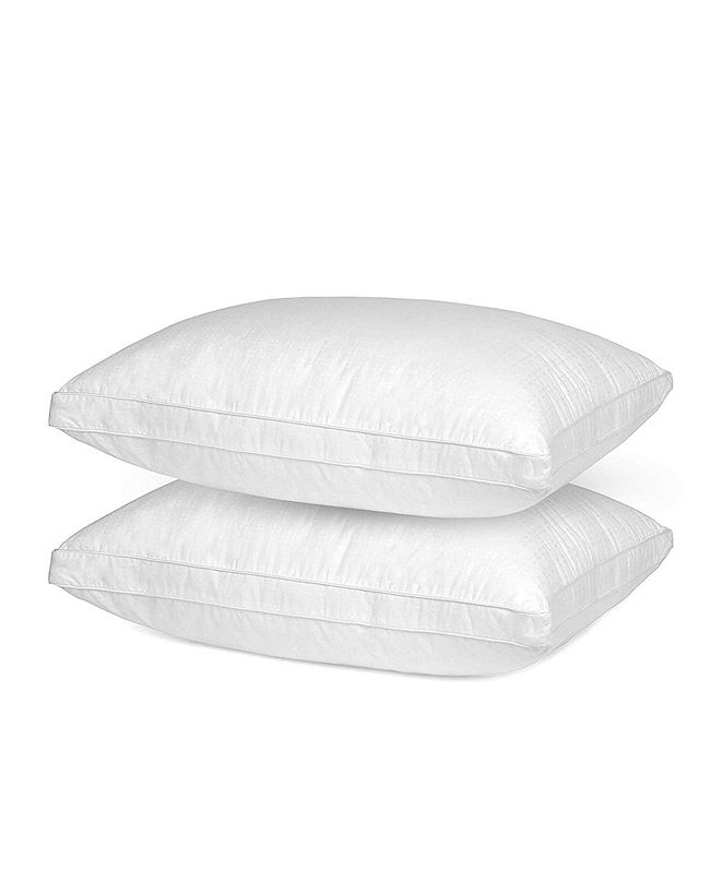 Mastertex Down Alternative Vacuum Packed Pillow, Queen - Set of 2 Pieces