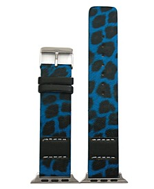 Stitched Cheetah Leather Apple Watch Band