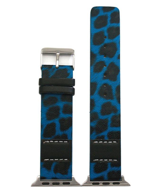 Nimitec Stitched Cheetah Leather Apple Watch Band